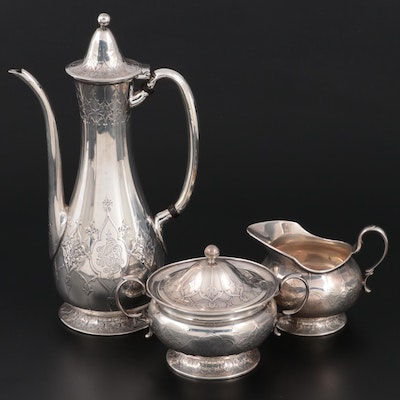 Tiffany & Co. Sterling Silver Indo-Persian Style Coffee Set, 1894–1902