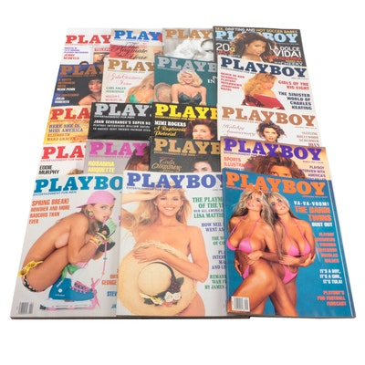 """Playboy"" Magazines Featuring Anna Nicole Smith, La Toya Jackson, and Others"