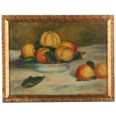 Still Life Oil Painting, Mid-20th Century