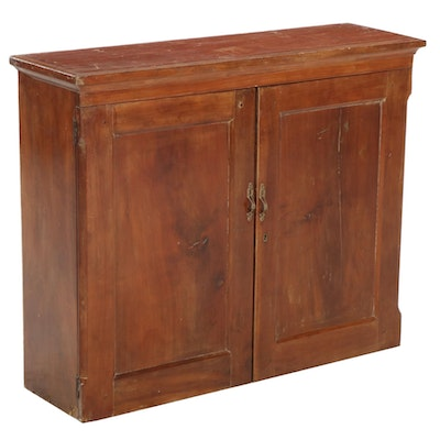 American Primitive Cherry Two-Door Cabinet, Late 19th to Early 20th Century