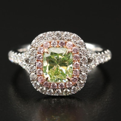 18K Diamond Ring with GIA Report
