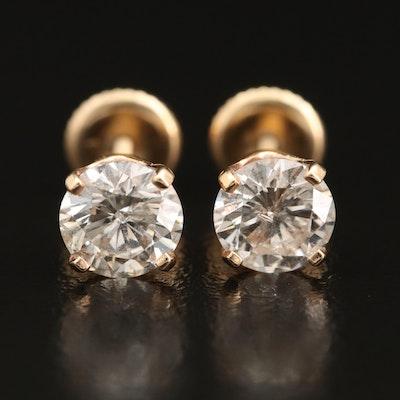 14K 1.75 CTW Diamond Stud Earrings
