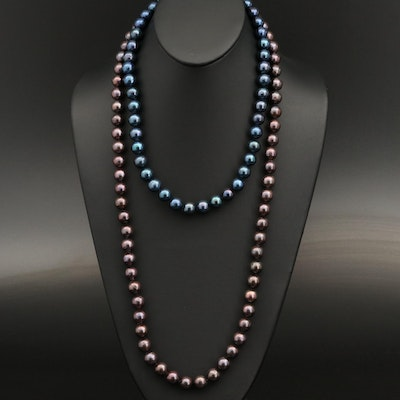 Pearl Necklaces with Sterling Silver Clasps