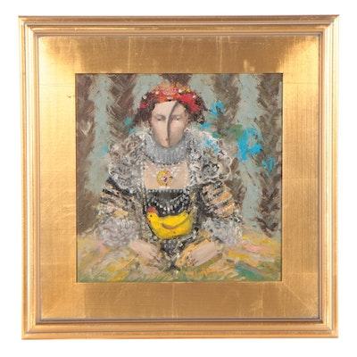 "Garncarek Aleksander Oil Painting ""Kudlowa,"" 2021"