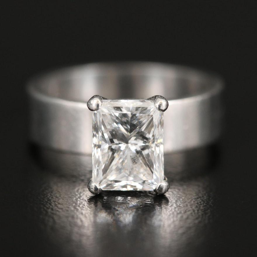 Platinum 2.55 CT Diamond Solitaire Ring