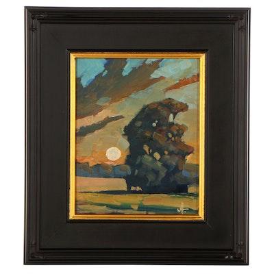 """William Hawkins Landscape Oil Painting """"Dulce Recuerdo,"""" 2021"""