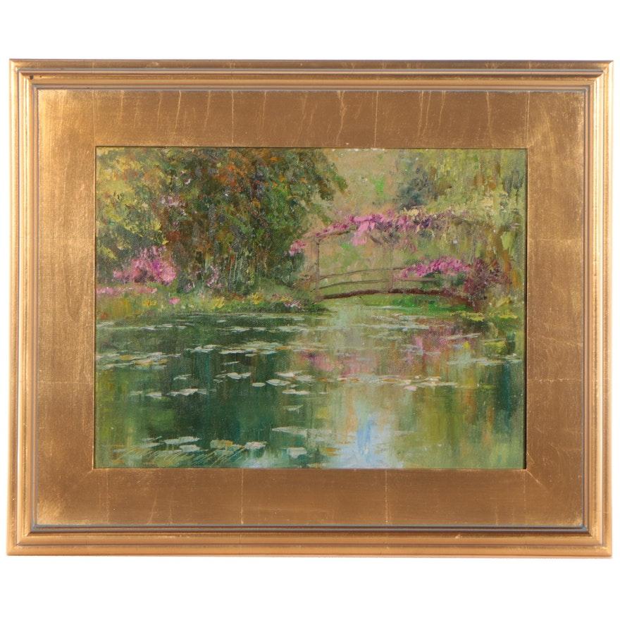 "Garncarek Aleksander Oil Painting ""In The Park,"" 2021"
