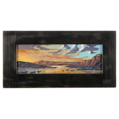"William Hawkins Seascape Oil Painting ""Low Tide,"" 2021"