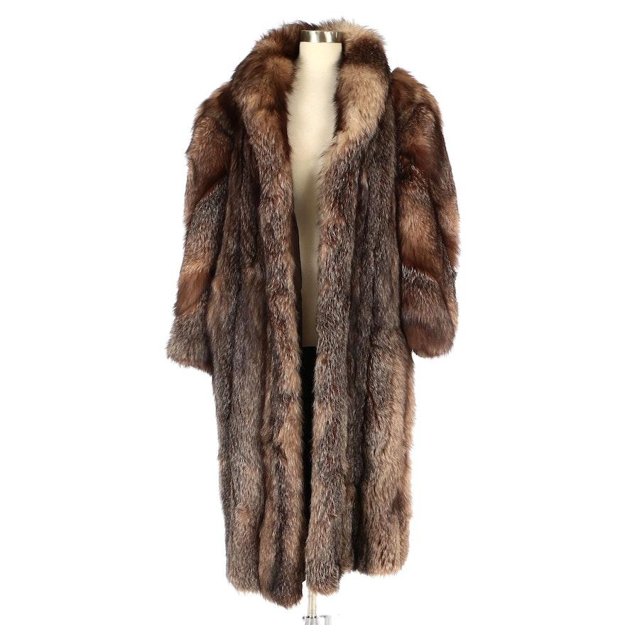 Crystal Fox Fur Coat from Kotsovos