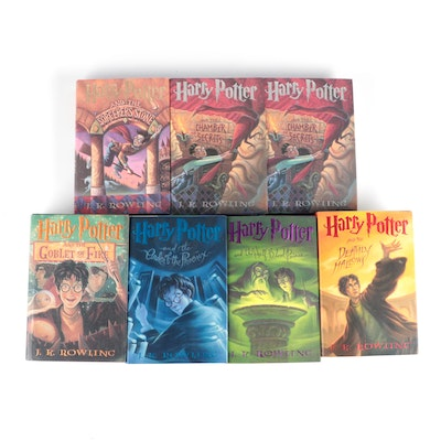 """""""Harry Potter"""" Partial Set, Including First American Editions, by J. K. Rowling"""