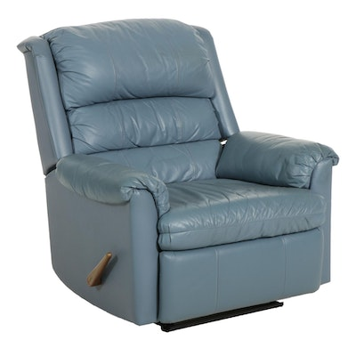 Franklin Faux Blue Leather Recliner