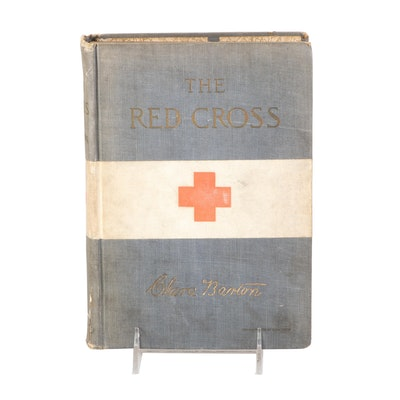 """Illustrated """"The Red Cross in Peace and War"""" by Clara Barton, 1906"""