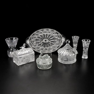 """Lenox """"Crystal Star"""" Vase with Other Crystal and Glass Vases and Decor"""