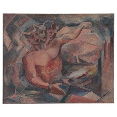 Carlos Cervantes Revelation Scene Oil Painting