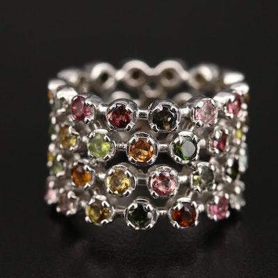 Sterling Tourmaline Eternity Ring