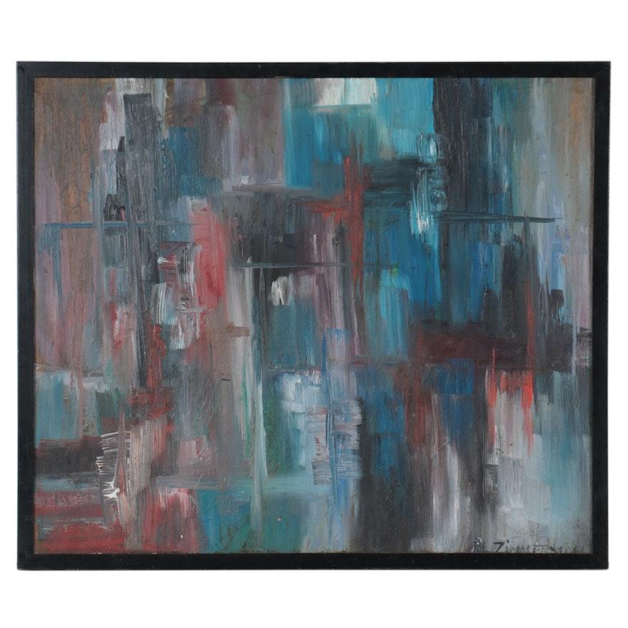 Abstract Acrylic Painting, Circa 2000