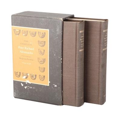 "Limited Facsimile Edition ""Poor Richard Almanacks"" Two-Volume Set, 1970"