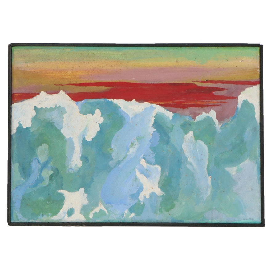 Bill Fabe Abstract Landscape Oil Painting