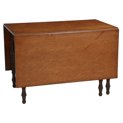 William and Mary Style Walnut Gate-Leg Table, 20th Century