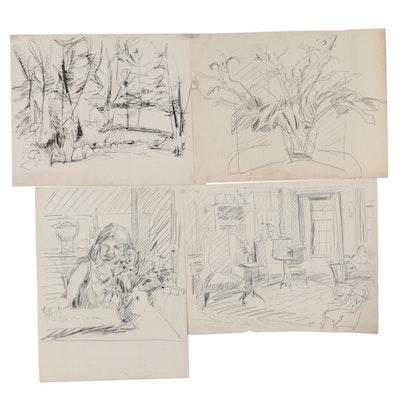 Betty Kavun Drawings, Late 20th Century
