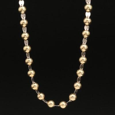 Italian 14K Beaded Necklace