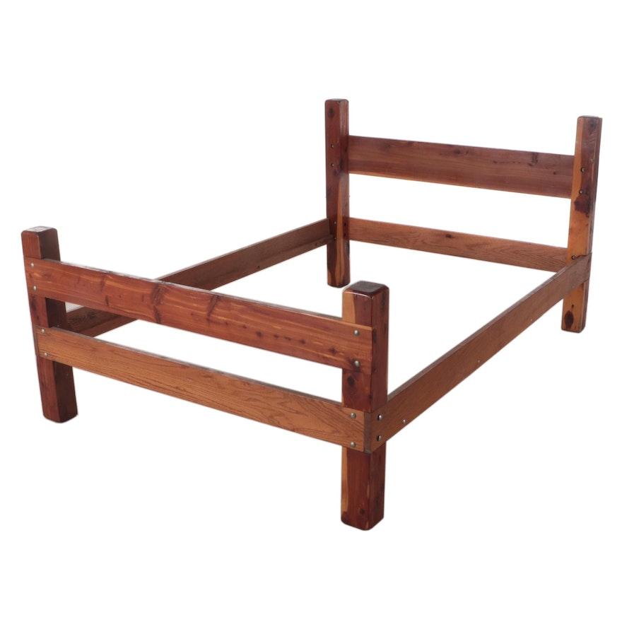 Handmade Cedar and Oak Bed Frame
