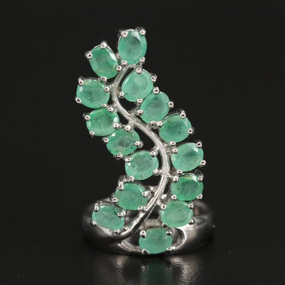 Sterling Emerald Ring
