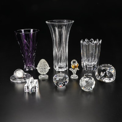 Orrefors, Vera Wang by Wedgwood and Other Crystal Vases and Paperweights