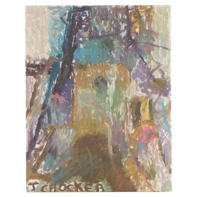 Jeffery Crocker Abstract Oil Painting, 21st Century