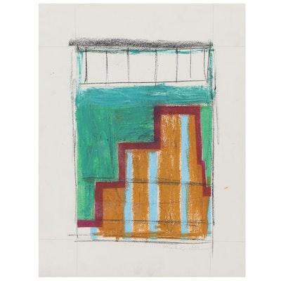 Mark Gualtieri Abstract Pastel Drawing, 2015