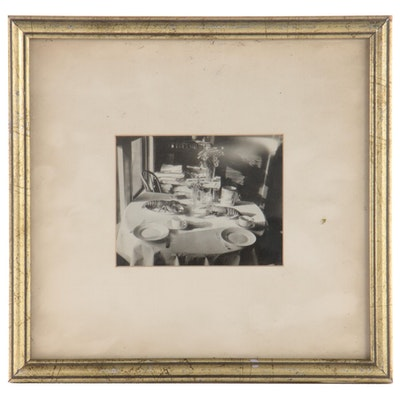 Silver Print of a Dinner Table, Mid-20th Century