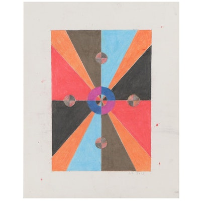 Lawton Orchard Abstract Pastel Drawing, 2013