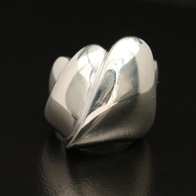 Charles Krypell Sterling Fluted Ring