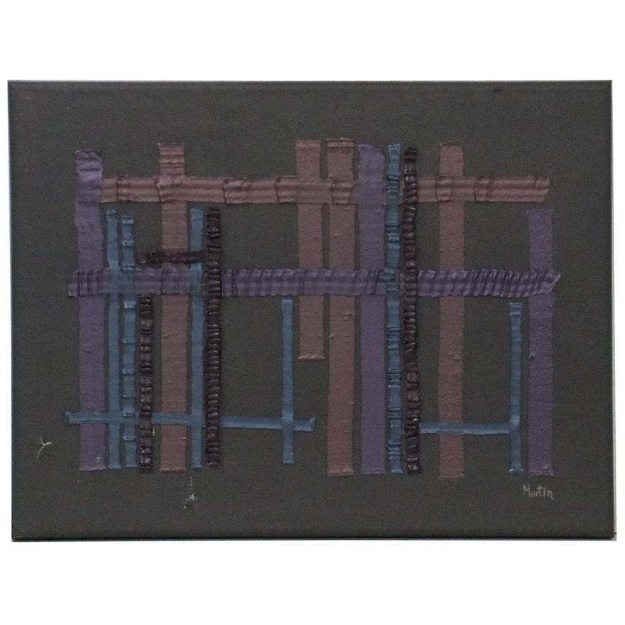 "Abstract Acrylic Painting ""Ravenna,"" Circa 2000"