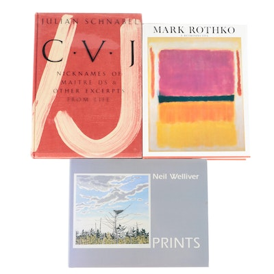 """Signed First Edition """"Nicknames of Maitre D's"""" by Julian Schnabel and More"""