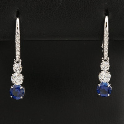 Swarovski Graduated Rhinestone and Cubic Zirconia Earrings