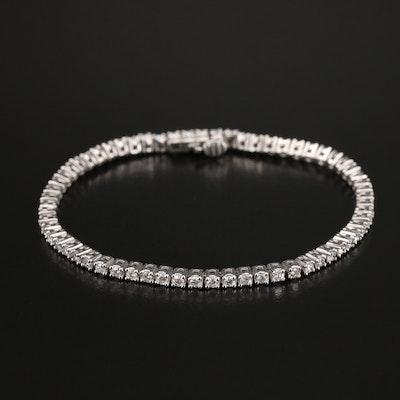 Sterling 2.08 CTW Diamond Tennis Bracelet