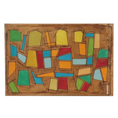 Abstract Acrylic Painting, Late 20th Century