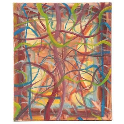 Jon Scharlock Abstract Oil Painting, 2000