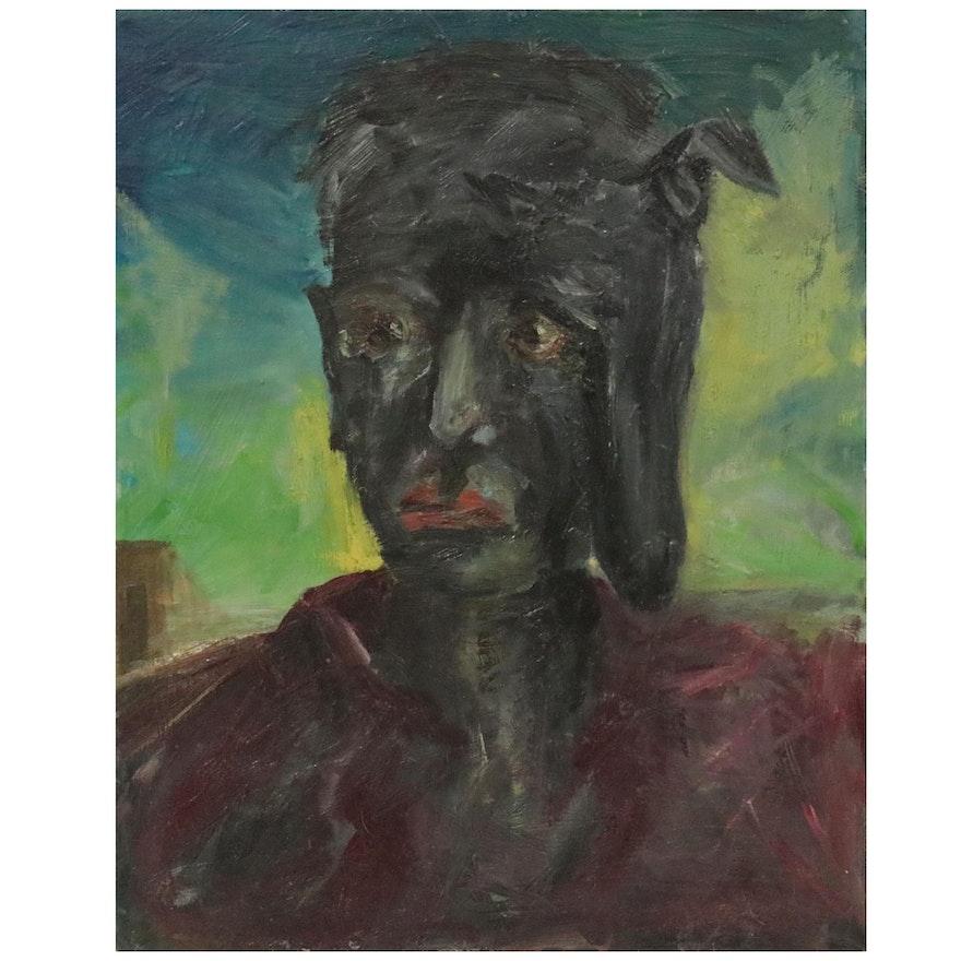 Jon Scharlock Portrait Oil Painting of Man