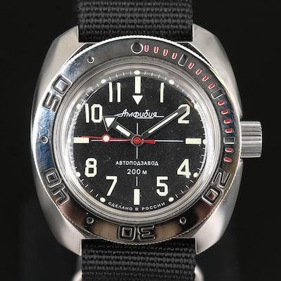 Vostok Amphibian Stainless Steel Automatic Wristwatch