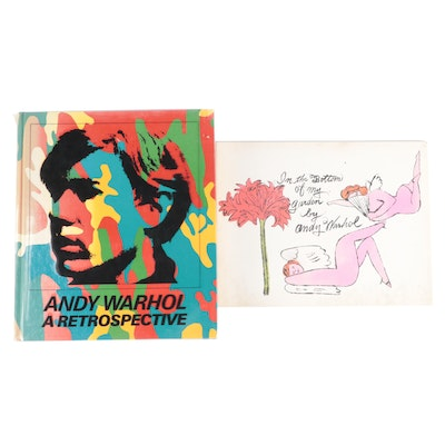 """""""Andy Warhol: A Retrospective"""" and """"In the Bottom of My Garden"""" by Andy Warhol"""