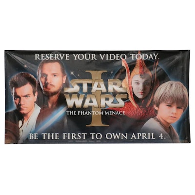 """""""Star Wars: Episode I"""" Double-Sided Video Release Movie Banner"""