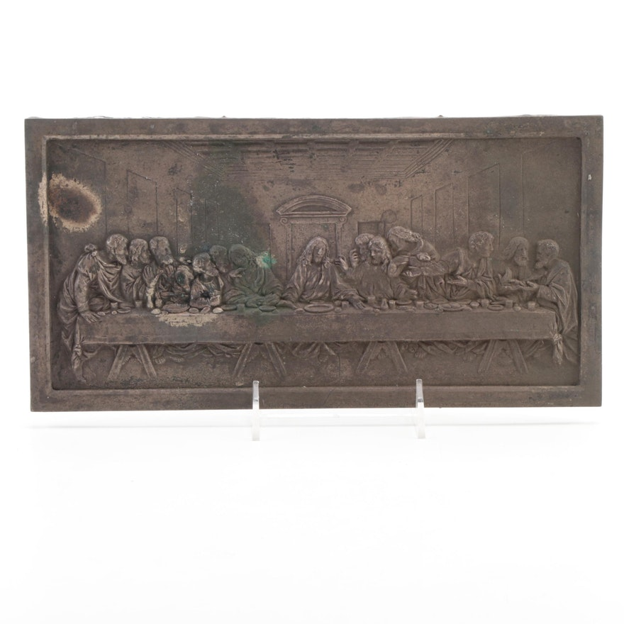 """""""The Last Supper"""" Relief Pewter Wall Hanging"""
