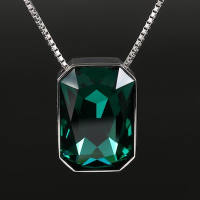 Swarovski Crystal Pendant Necklace with Interchangeable Stones