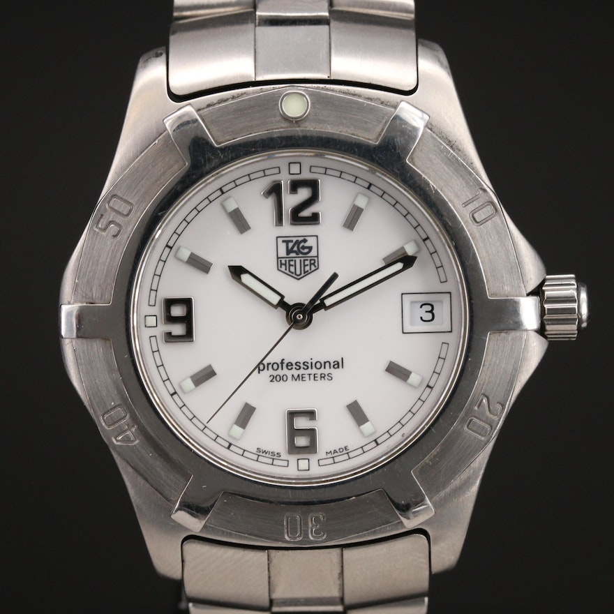 TAG Heuer Professional 200 Meters Stainless Steel Wristwatch