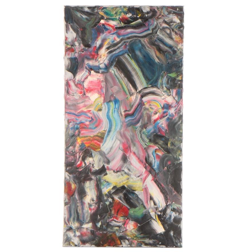 Jon Scharlock Abstract Oil Painting, Late 20th Century