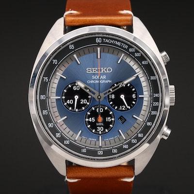 Seiko Recraft Series Solar Chronograph Stainless Steel Wristwatch