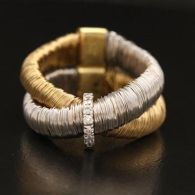 "Yvel ""ETHIOPIA"" Diamond Crossover Wire Wrap Ring"