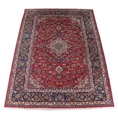 10'3 x 14' Hand-Knotted Persian Kashan Room Sized Rug